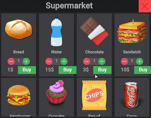 FiveM ESX Shop supermarket menu